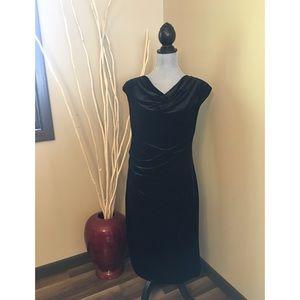 Calvin Klein black velvet dress size small NWT